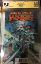 SECRET WARS #1 CGC SS 9.8 RIBIC VARIANT COVER SIGNED BY JONATHAN HICKMAN