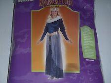 Renaissance Queen Princess Costume Blue Gold Velvet Dress Size Deluxe