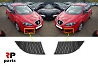FOR SEAT ALTEA 2004 - 2009 NEW FRONT BUMPER FOGLIGHT COVER BLACK PAIR SET
