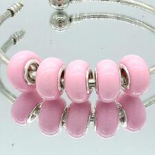 5pcs silver MURANO European Charm beads LAMPWORK fit Necklace Bracelet Chain #2