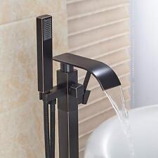 Grifo de la bañera suelo Montado pié con Ducha de Mano Rellenador De Bañera Grifo Mezclador
