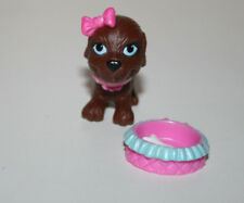 Barbie Doll Pet BROWN DOG AND BOWL