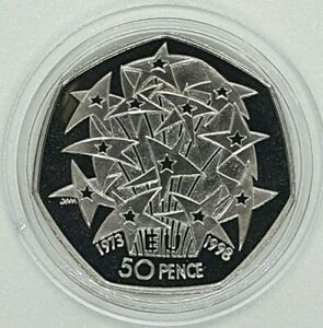 Royal Mint - 1998 EU Stars Proof 50p - Fifty Pence Coin