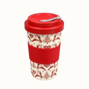BamBroo Yuletide/ Christmas Drinks Mug 400ml Festive Travel Mug