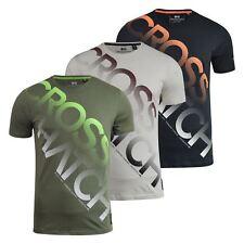 Mens T-shirt Crosshatch LETTERMAN Top Graphic Short Sleeve Tee