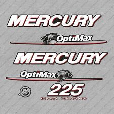 Mercury 225 hp Optimax outboard engine decals sticker set reproduction 225HP