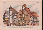 Exposition Universelle Esplanade des Invalides Village Alsace 1937 ILLUSTRATION