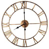 Creative 3D Mute DIY Roman Numeral Wall Clock Hanging Clock Home Decor