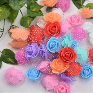 20pcs/Lot 3.5cm Mini PE Foam Gauze Rose Flower Head DIY Wedding Home Deco