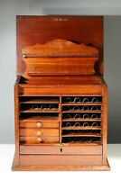 Antique Carpenters Cabinet Drawers Haberdashery Collectors Specimen Chest