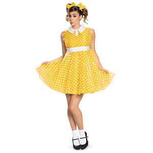 Disney Adult Womens Gabby Doll Toy Story 4 Halloween Costume Yellow Dress S-XL