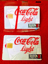"Coca-Cola ""light"" BUDAPEST HUNGARY Phone Cards -Telefon Kartya 50 units ea HTF!"