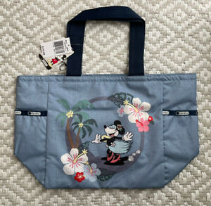NWT Lesportsac Disney Minnie Sing and Sway Picture Tote Rare Mickey Blue new