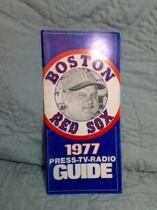 Boston Red Sox 1977 Press-Tv-Radio Guide