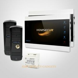"""HOMSECUR 7"""" Video&Audio Smart Doorbell 1.3MP with Black Camera for Home Security"""