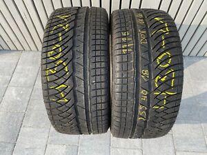 """2x 18"""" 7mm Michelin Pilot Alpin 4 PA4 255/49 R18"""" 99V Winter M+S 430-21"""