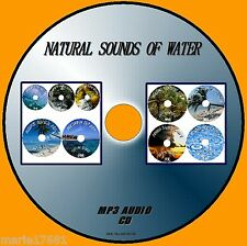 NATURAL SOUNDS OF WATER MP3 CD 9 CALM TRACKS SEASPRAY BROOKS TROPICAL RAIN STORM