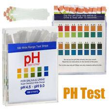 100x PH-Wert Teststreifen Strips Indikatorpapier Messung Pool Wassertest PH4,5-9
