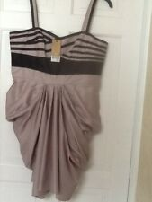 NEXT ROUCH STRAPPY SUMMER DRESS BNWT RRP £60 SIZE 16 PETITE