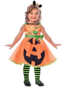 Toddler Cute Pumpkin Fancy Dress Costume Halloween Kids Girls Jack o Lantern