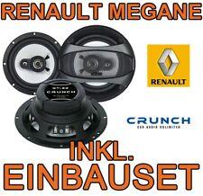 RENAULT MEGANE 1 CRUNCH LAUTSPRECHER BOXEN SET 16cm KOAX FRONTSYSTEM TÜR VORNE