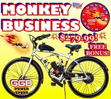 "66cc 80cc 2-Stroke Motorized Bike Kit And 26"" Cruiser Bike Diy High Power"