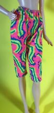 """11.5"""" BARBIE DOLL CLOTHES CLOTHING FLUORESCENT 80's WORKOUT CAPRI PANTS ONLY"""