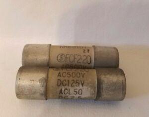 Lot De 2 Fuji FCF2-20 FCF220 300V 20A Fusibles ACL50