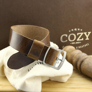 Military 102 Leather One Piece Watch Strap 18mm 20mm 22mm (Perlon Style)