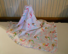 Mud Pie baby girl receiving blanket MERMAIDS ruffle trim 2 ply  HTF          L2