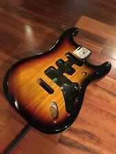 """Genuine Fender Deluxe Player Strat 3 Tone Sunburst Stratocaster Body 2 7/32"""""""