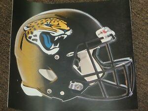 "JACKSONVILLE JAGUARS HELMET NFL Fathead Wall Graphics 11"" x 9""  (Poster/Sticker)"