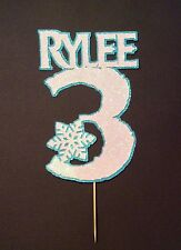 Birthday personalised Frozen themed name&number cake topper, big colour range