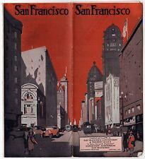 1927 SAN FRANCISCO CALIFORNIA Travel Brochure TOURISM Peck Judah BAY Tourist CA