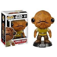 """Star Wars Admiral Ackbar 3.75"""" POP Vinilo Figura 81 FUNKO BRAND New Reino Unido Vendedor"""