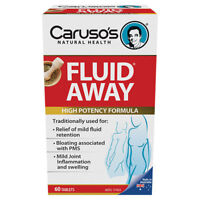 ツ CARUSO'S FLUID AWAY 60 TABLETS HIGH POTENCY FORMULA BLOATING PMS CARUSOS