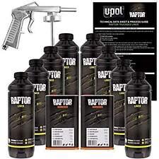 U-POL Raptor Tintable Urethane Spray-On Truck Bed Liner Kit w/FREE Spray Gun, 8L