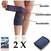2 X Compression Ankle pain Relief Wrap double pull elastic straps for Support