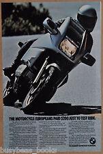 1985 BMW K100RS MOTORCYCLE advertisement, BMW K 100 RS bike