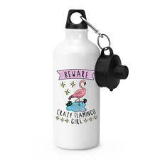 Hüten Sie sich vor verrückt Flamingo Mädchen Sport Getränkeflasche Zelten