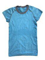 Free Shipping Lululemon Run Swiftly Short Sleeve Shirt Sz 6 Bright Blue