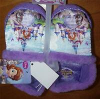 Girls Disney SOFIA the FIRST Slippers Size 5/6 7/8 9/10 11/12 purple princess NW