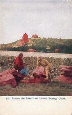 Postcard Across Lake from Island Peking China