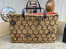 LQQK! Awesome Cynthia Rowley Honey Bee Wicker Hand Bag! Just In Time For Spring!