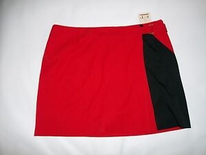 EP Pro GOLF Forbidden City RED Black Faux Wrap SKORT Plus Womens Size 22  NEW