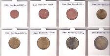 SAN MARINO COMPLETE SERIE EUROMUNTEN UNC 1 CT/€2,-- JAREN 2003/2004/2005