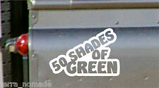 50 SHADES OF GREEN, STICKER, LAND ROVER, DEFENDER, 4x4 Off Road, Funny