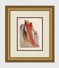 Authentic 1960 SALVADOR DALI Divine Comedy Purgatory Woodcut VIRGIL FRAMED COA