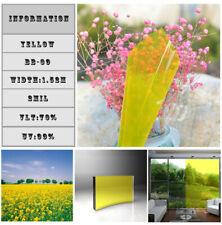 Self-adhesive Window Sticker Film Yellow Home Window Tint Decoration Vinyl 60in