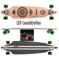 Maronad ® longboard skateboard drop through ABEC 11 LED roles luces indí